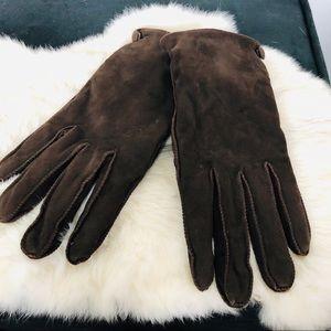 LAUREN  Ralph Lauren Brown Suede Leather